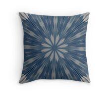 Digital Blue Throw Pillow