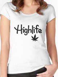 Highlife Shirt (Dark) Women's Fitted Scoop T-Shirt