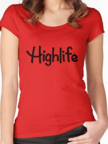 Highlife Shirt (Dark) (Leafless Version) Women's Fitted Scoop T-Shirt