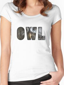 Font Owl Women's Fitted Scoop T-Shirt