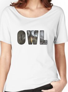 Font Owl Women's Relaxed Fit T-Shirt