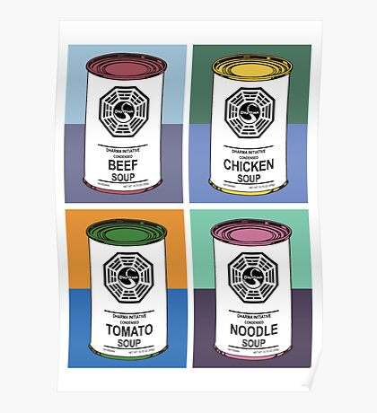 Dharma Initiative Soup Cans Poster