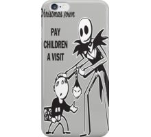 Chistmas Town Pay Children a Visit iPhone Case/Skin