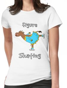 Figure Skating Cow Womens Fitted T-Shirt
