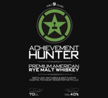 Achievement Hunter Premium American Rye Malt Whiskey by fourblackbirds