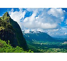 Pali Lookout View 1  Photographic Print