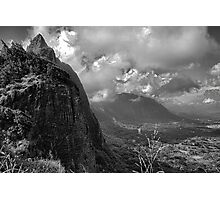 Pali Lookout View 2  Photographic Print