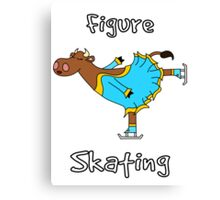Figure Skating Cow Canvas Print