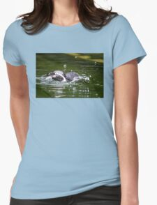 Penguin #1 Womens Fitted T-Shirt