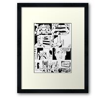 Reality TV Zombies Framed Print