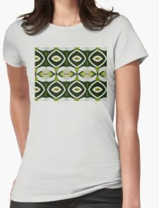 Green and white pattern. Womens Fitted T-Shirt