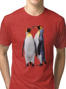 King Penguins, South Georgia Tri-blend T-Shirt