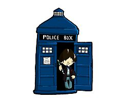 DOCTOR WHO IN TARDIS SECOND DOCTOR Photographic Print