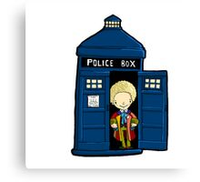 DOCTOR WHO IN TARDIS SIXTH DOCTOR Canvas Print