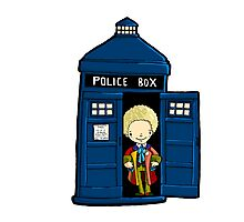 DOCTOR WHO IN TARDIS SIXTH DOCTOR Photographic Print
