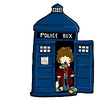 DOCTOR WHO IN TARDIS FOURTH DOCTOR by Bantambb