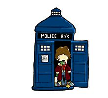 DOCTOR WHO IN TARDIS FOURTH DOCTOR Photographic Print