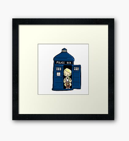 DOCTOR WHO IN TARDIS FIFTH DOCTOR Framed Print