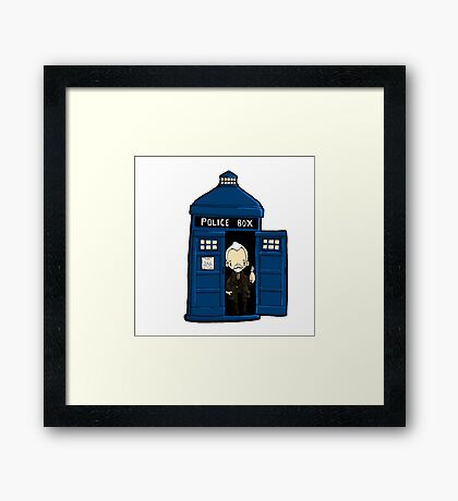 DOCTOR WHO IN TARDIS WAR DOCTOR Framed Print