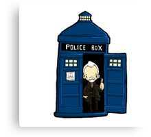 DOCTOR WHO IN TARDIS WAR DOCTOR Canvas Print