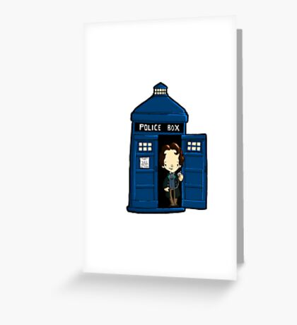 DOCTOR WHO IN TARDIS EIGHTH DOCTOR Greeting Card