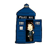 DOCTOR WHO IN TARDIS EIGHTH DOCTOR Photographic Print