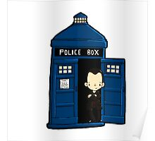 DOCTOR WHO IN TARDIS NINTH DOCTOR Poster