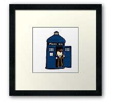 DOCTOR WHO IN TARDIS TENTH DOCTOR Framed Print