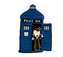 DOCTOR WHO IN TARDIS TENTH DOCTOR Photographic Print