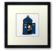 DOCTOR WHO IN TARDIS ELEVENTH DOCTOR Framed Print