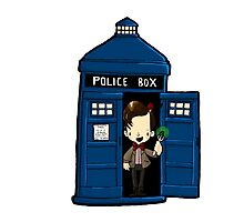 DOCTOR WHO IN TARDIS ELEVENTH DOCTOR Photographic Print