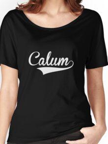 Baseball Style Calum (White) Women's Relaxed Fit T-Shirt