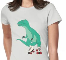 Tyrollersaurus Rex Womens Fitted T-Shirt