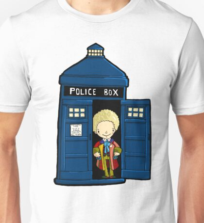 DOCTOR WHO IN TARDIS SIXTH DOCTOR Unisex T-Shirt