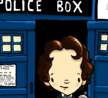 DOCTOR WHO IN TARDIS EIGHTH DOCTOR Sticker