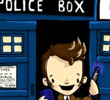 DOCTOR WHO IN TARDIS TENTH DOCTOR Sticker