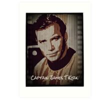 Captain James T Kirk Star Trek Art Print