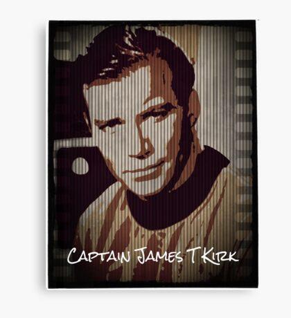 Captain James T Kirk Star Trek Canvas Print