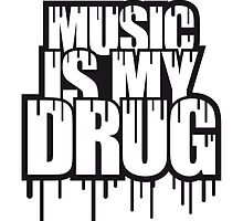 Music Is My Drug Stamp by Style-O-Mat