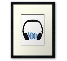 Music Headphone Design Framed Print
