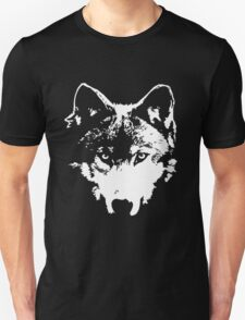 Vector Wolf Stare (White) T-Shirt