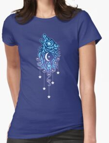 Star Wolf Tribal Womens Fitted T-Shirt