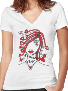 Love Yourself First Women's Fitted V-Neck T-Shirt