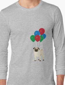 Balloon Pug Long Sleeve T-Shirt