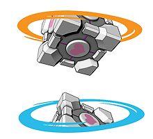 Portal Companion Cube by Grinalass