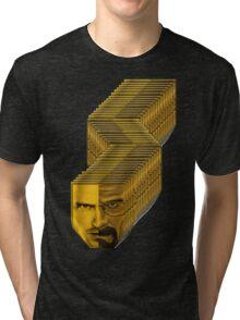 breaking bad broken faces Tri-blend T-Shirt