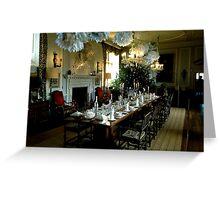 Christmas table, Doddington Hall Greeting Card