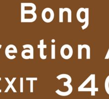 Bong Recreation Area, Road Sign, Wisconsin Sticker