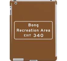 Bong Recreation Area, Road Sign, Wisconsin iPad Case/Skin