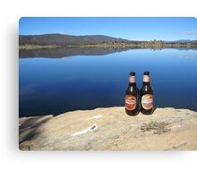 Beer by the Water Canvas Print